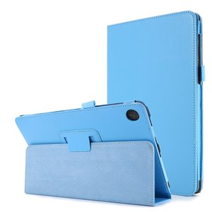 Soft Litchi Leather Case for Lenovo Tab M10 Plus 10.1 TB-X606X TB-X606F Talet Folio Folding Stand Cover