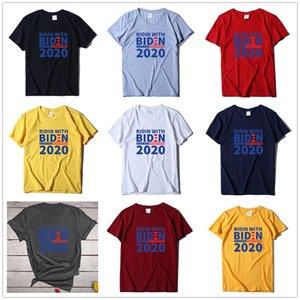 Ridin avec t-shirt électoral 2020 Biden Hommes et femmes Même style U.S. U.S. T-shirt général électoral Code européen Lâche manches courtes