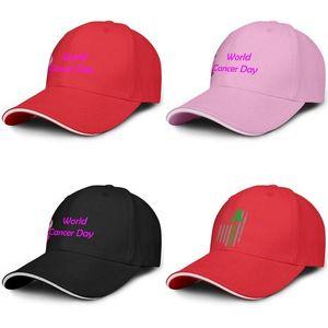 Мода Бейсболка Всемирный день борьбы против рака розовый логотип Регулируемая Бал Hat Прохладный персонализированный Trucker Cricket лимфома Американский флаг фиолетовый