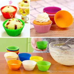 7cm Silicone Muffin Cake Cupcake Cup Cake Mould Mold Tray Baking Jumbo Cookie Mould Baking Molds Case Bakeware Maker Bh0227