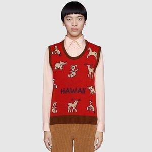 HAWALL жилет свитер мужской женщин Кофты Рубашки пуловер с коротким рукавом осень весна зима одежда вышивка письмо оленей свитера M-3XL