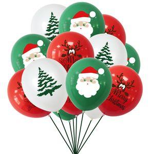 Xmas украшения Санта-Клаус шар наборы Надувные шары латексные Набор Merry Christmas Paper Banner Xmas Tree Balloon орнаменты LY924