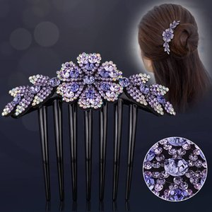 100set lot Luxury Lady Crystal Hairpins Hot Selling Flower Style Rhinestone Hair Clip Bride Hairwear Stylish Gift For Girl