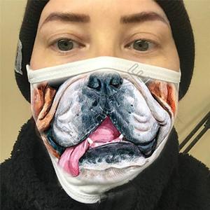 Máscaras expresión divertida 3D máscaras mascarillas de impresión de dibujos animados de moda cara lavable Boca Cover Designer a prueba de polvo D81211 Máscara Ciclismo