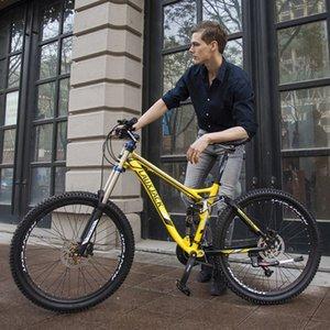 Adulto downhill de mountain bike bicicleta liga de alumínio off-road bicicleta de velocidade variável de corrida de 27 velocidades de absorção dual shock