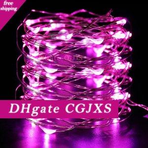 16 5m .4ft 50 Led DC-Netzadapter Versorgung Led Coopper Draht-Schnur-Licht Weihnachten Halloween Dekoration Hochzeit