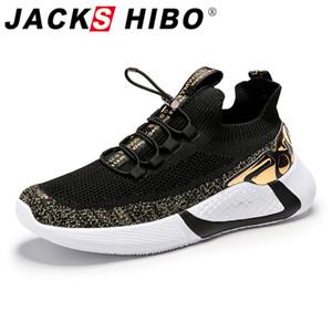 Jackshibo été Respirant Souliers simple d'homme Chaussures de marche confortables Homme Lightweight Chaussures Hommes chaussures de course