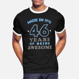 1972 Years Of impresionante 46a regalo de cumpleaños hombres de la camiseta del carácter 100% algodón cuello redondo unisex Interesante Camisa divertida carta informal de verano