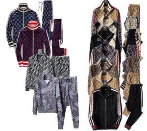 GGG 2020 Outono homens terno marca de moda corredor jaqueta italiana Kanye das mulheres com calças harem de designer hip-hop conjuntos série corrida matinal 2piece