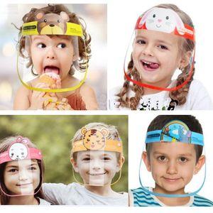 Viso bambini del fumetto di scudo anti-fog maschera protettiva completa maschera trasparente in PET Protezione Splash Head Cover goccioline Kid Gifts HH9-3096