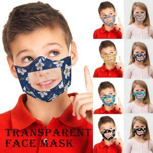 Mode Enfants Lip Masques Langue respirateurs Enfants Imprimé PET clair bouche lavable Masques face visible Masques Designer