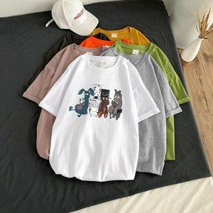Männer-T-Shirts aus 100% beiläufig Kleidung Stretchds Kleidung yhkkbm Naturfarbe Schwarz Baumwolle Kurzarm Mehrfarben Art und Weise gedruckt Applikation sh