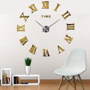 Conception cadeau Taille Muhsein décoration unique Grand autocollant Diy mur Gros Horloge Nouveau 2020 Miroir Horloge moderne dLOiL
