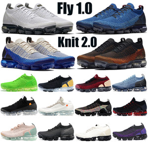 Top quality Fly 1.0 Sneakers Knit 2.0 jacket pack team red Mens Women Running Shoes Triple Black gym blue Sports trainers