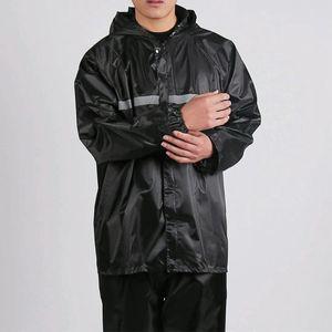 De una sola capa de una sola capa traje ajustado dividida luminosa y un impermeable adicional engrosada lugar de trabajo impermeable protección laboral
