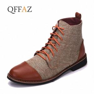 QFFAZ Botas Hombre dedo del pie acentuado hombres se visten Oxford zapatos de lona de los zapatos ocasionales de los cargadores del tobillo Zapatos del tamaño grande 39 48 botas de invierno para las mujeres Mo oPjK #