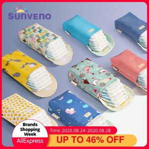 Sunveno Multifunktionale Baby-Windel-Organizer Wiederverwendbare Wasserdicht Fashion Prints Wet / Dry-Beutel-Mama-Speicher-Beutel-Reisen Wickeltasche