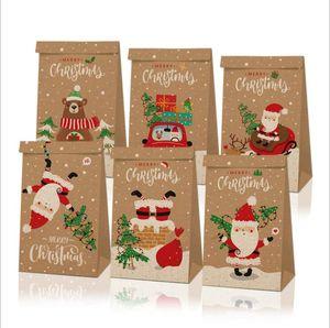 Navidad cajas del caramelo de Navidad Kraft Papel de la vendimia de Apple Caja de regalo de Halloween Buzón cajas de regalo de Acción de Gracias Panadería Embalaje Decoración LSK970