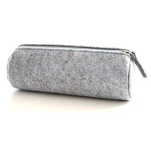Unisex Large Capacity Holder Totes Pouch Felt Zipper Pen Bags