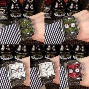 tag heuer 2020 Nouvelle 10 couleurs Monaco calibre 24 39 montre carrés conception  sports TCA populaires hommes étiquette montre-bracelet montre qZLV #