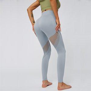 Бесшовные высокой талией Athletic Леггинсы Gym Tight Tummy управления Йога Колготы Cut Out Активный Sportswear