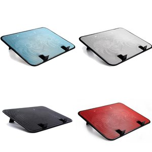 Brand New 14 inch Notebook Cooler 5v Dual Fan USB External Laptop Cooling Pad Slim Stand High Speed Silent Metal Panel Fan