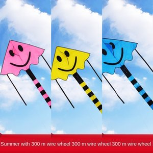 Weifang özel teklif özel teklif uçan yüz çocuk karikatür gökkuşağı uçurtma uzun kuyruk uçurtma esinti gülümseyen