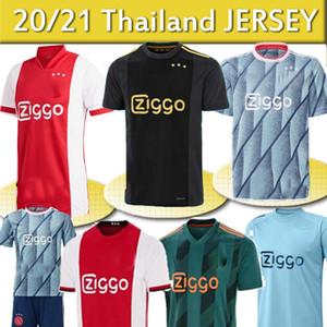20 21 AJAX casa fútbol Jersey # 21 DE JONG distancia Camisa Ajax 19/20 # 10 # 4 TADIC DE Ligt # 22 ZIYECH Hombres uniforme niños de fútbol de Tailandia