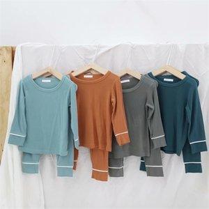 Unisex Kids Pajamas Sets Cotton Boys Sleepwear Suit Autumn Girls Pajamas Long Sleeve Pijamas Tops+Pants 2pcs Children Clothing