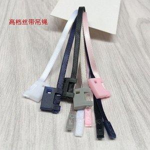 cinta cuerda 500PCS alto grado de cordones de cierre sellado para la ropa de la / honda / TAG / cuerda a mano / etiqueta colgante de cadena de ropa hebilla uB0m #