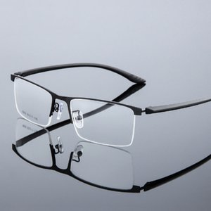 Men Glasses Frame Ultralight Square Eye Myopia Prescription Eyeglasses Male Half Optical Frame Eyeglasses Myopia