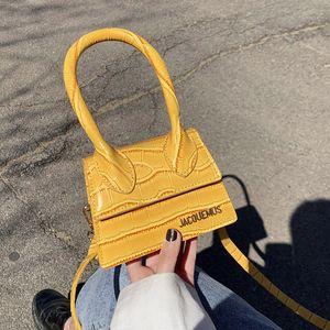 Jacquemus Мини-сумка Девушка Малого Tote Сумка для женщин 2020 мешка руки дизайнер Марк PU кожа Сумки Lady