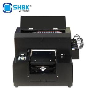 SHBK A4 UV Printer UV Phone Cover Printer for Phone Case leather TPU Golf Printing Machine With White ver9.0 RIP software