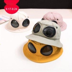 zona separada para los niños ZcPSN piloto otoño 2020 nuevos niños hatGlasses cubo fresco gafas de dibujos animados pescador del sombrero del cubo del sombrero pescador MZ9569
