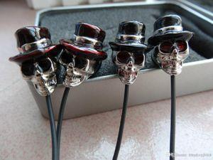 Cgjxs تصميم جديد جمجمة قبعة القط 3 .5mm المعدنية في الأذن سماعة هيئة التصنيع العسكري للحصول على سامسونج للحصول على اي