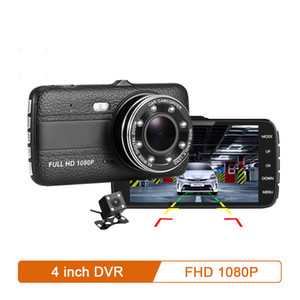 """Автомобиль Dvr камера 4,0"""" Full HD 1080P тире Cam Auto Registrator двойной объектив ночного видения с камеры заднего вида Видеорегистратор"""