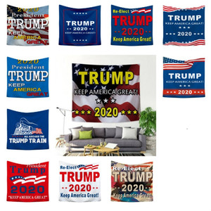 HOT 11 Style 100PCS Interior decoration tapestry 150 * 200cm background wall trump 2020 US election printing household tapestry wall T50061
