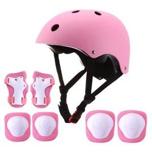 7 pièces Casque pour enfants Pad Set coude Genou poignet Tapis de sport Équipement de protection Ensemble vélo Roller Skating Sport