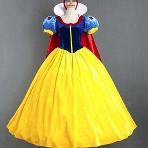 0tCHq Jogo tribunal uniforme Snow Princess papel traje rainha jogando serviço de festa de Halloween traje serviço roupas Princesa Branco