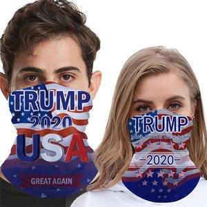 2020 Trump Triangle Président écharpe magique États-Unis Trump Élection multifonctions vélo Couvre-chef Tubular Turbans Bandana Masque DDA354