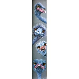New Diamond Painting 5D Full Square Round Drill Animal Ostrich Rhinestone pictures Embroidery Painting Cross Stitch Kit WG859 0924