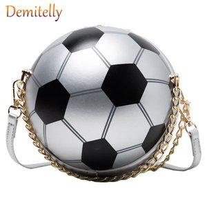 Moda bola em forma de bolsa das mulheres New Personalidade Futebol Forma Único Shoulder Messenger Bag Malha das senhoras Tote Bag Purse