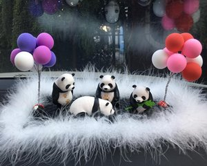 Netter Panda Auto-Verzierungen Dekoration Panda Puppe Modell Mini Doll Car Center Console Dekoration Zubehör für Innen