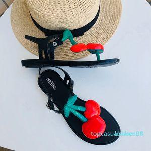 2020 nuova delle donne di Melissa Sandali Cherry donne scarpe comode Sandali piatti Infradito gelatina Scarpe Donna Sandali di alta qualità T08