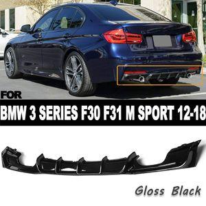 Car Rear Bumper Diffuser Lip Spoiler for BMW 3 Series F30 F31 M SPORT 2012-2018 Coupe Convertible body kit