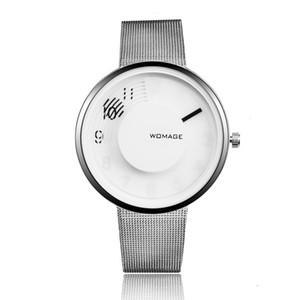 Orologi WoMaGe della vigilanza di modo delle donne della maglia d'acciaio creativi donna Orologi Semplice Ladies Watch Orologio Reloj mujer relogio feminino