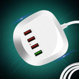 4-Port USB Cell Phone Viagem desktop carregador de parede carregamento rápido 30W Adapter carregador inteligente para telefones Tablet Pc