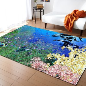 Trend Underwater World 3d Printed Home Area Rug And Carpets For Living Room Large Size Carpet Modern Bedroom Decora Floor Mats