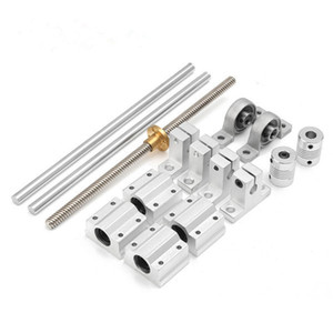 15pcs 400mm Optical Axis Guide Bearing Housings Linear Rail Shaft Support Screws Set