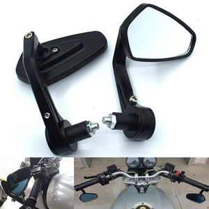 "Universal Motorcycle Bar End Rearview Mirrors 7 8"" 22mm For Honda CBR250 VT250 Hornet250 Jade250 CB400 VTEC CBR400 CB-1"